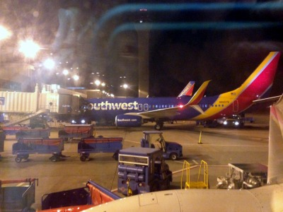 Arrived 30 minutes early! LUV Southwest.