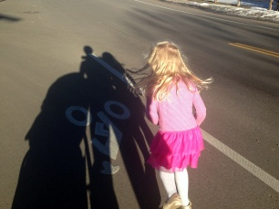 """Running"" home with me one day from school"