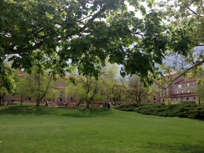 CU campus -- it was really pretty before the rain came through